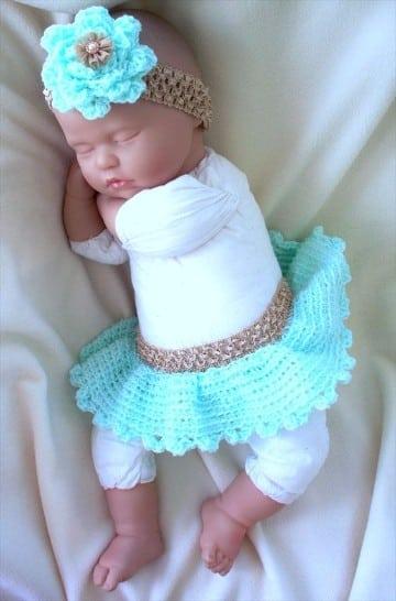 vestidos para bebe en crochet de 0 a 3 meses