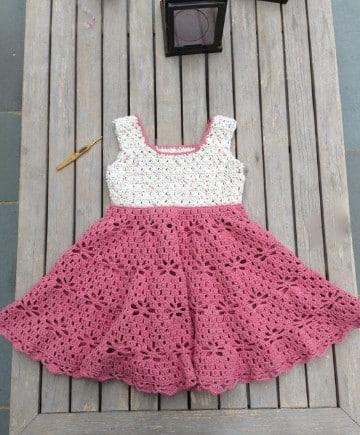 vestidos para bebe en crochet imagenes