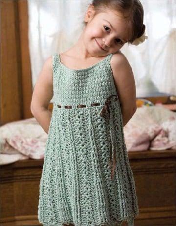 vestidos para bebe en crochet patrones