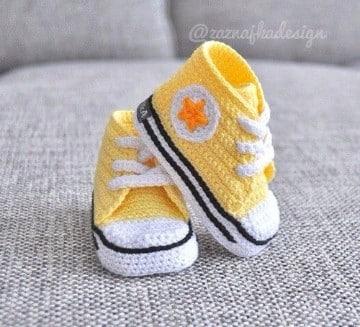 zapatillas tejidas a crochet con suela