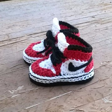 zapatillas tejidas a crochet para bebe