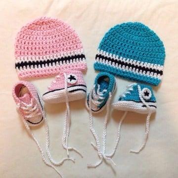 zapatillas tejidas a crochet patrones