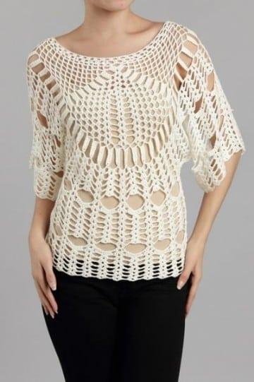 blusas tejidas con gancho modernas japonesas