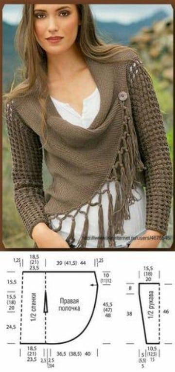 blusas tejidas con gancho modernas patrones