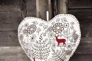 Imagenes con bordados de nochebuena para decorar el hogar