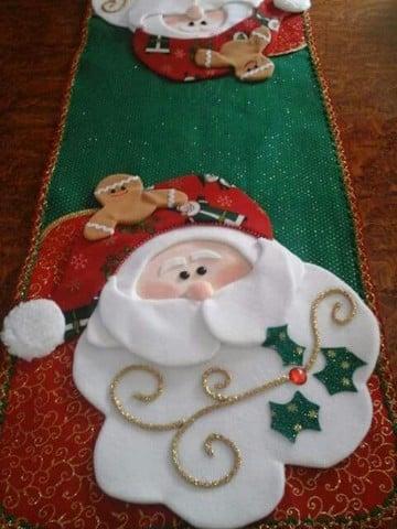 caminos de mesa para navidad fieltro