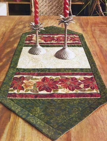 caminos de mesa para navidad patchwork