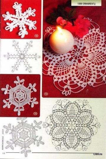 carpetas navideñas en crochet con patrones
