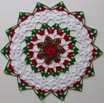 carpetas navideñas en crochet ganchillo
