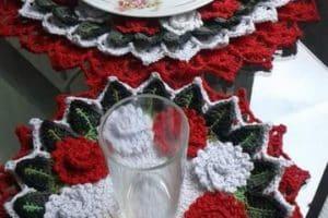 Como hacer carpetas navideñas en crochet patrones gratis