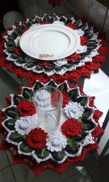 carpetas navideñas en crochet tejidas