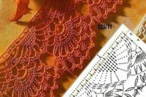 Modelos de cenefas tejidas a crochet patrones gratis