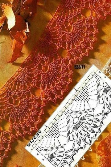 cenefas tejidas a crochet para imprimir