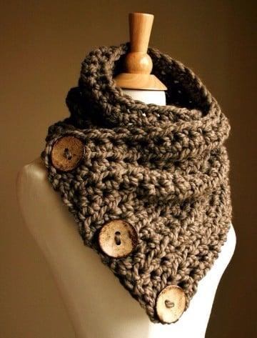 chalinas tejidas a dos agujas crochet