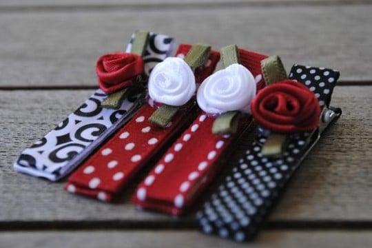 como hacer diademas de liston de moda