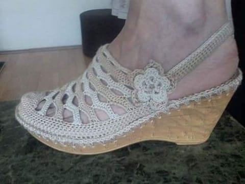 como tejer unas sandalias a mano