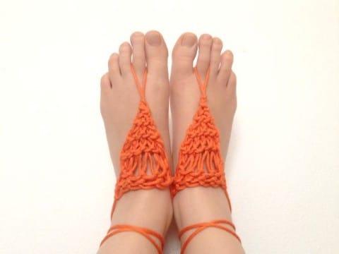 como tejer unas sandalias playeras