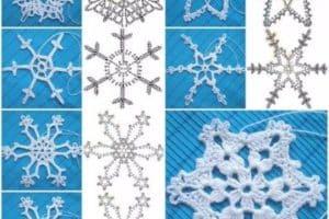 Esquemas de copos de nieve a crochet para hacer adornos