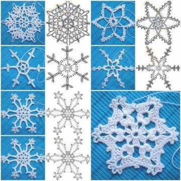 copos de nieve a crochet patrones