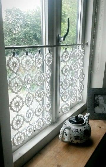 cortinas a crochet paso a paso cocina