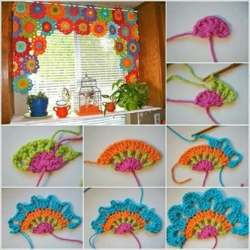 cortinas a crochet paso a paso modelos