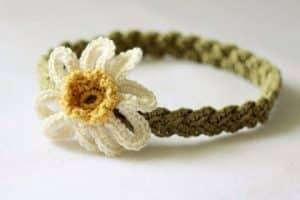 Modelos de diademas para bebe en crochet diseños originales