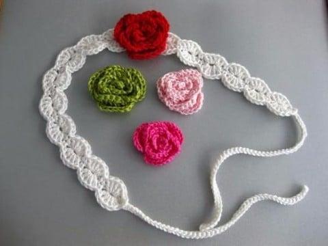 diademas para bebe en crochet como tejer