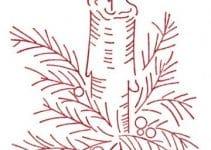 Imagenes con dibujos navideños para bordar muy originales