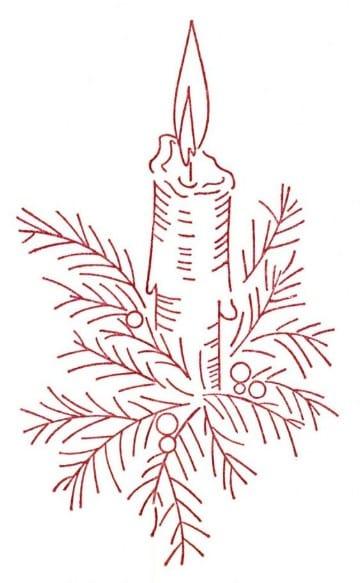 dibujos navideños para bordar en cinta
