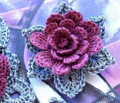 flores de crochet para el pelo como hacer