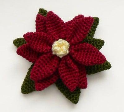 flores de crochet para el pelo grande