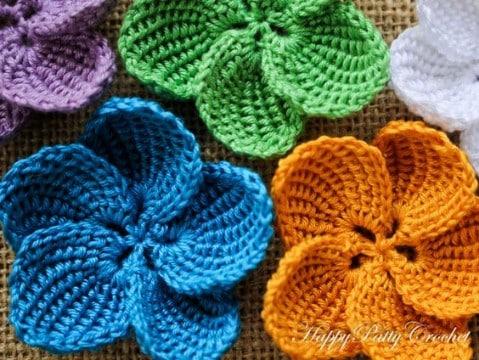 Flores de ganchillo faciles de hacer patrones gratis | Tejidos a ...