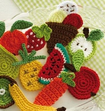 frutas tejidas a crochet en español