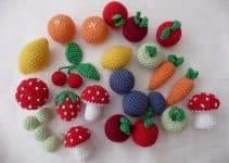 Frutas tejidas a crochet faciles para decorar tu cocina