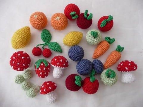 frutas tejidas a crochet  miniaturas