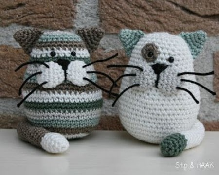 gatos tejidos a crochet como hacer
