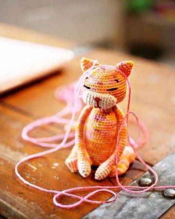 gatos tejidos a crochet patrones