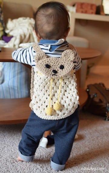 morrales tejidos a crochet infantiles