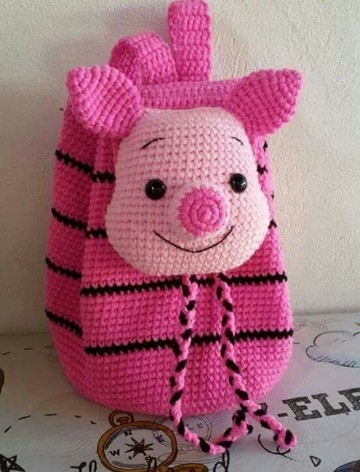 morrales tejidos a crochet mochilas