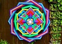Imágenes de ojo de dios tejido a crochet distintos modelos