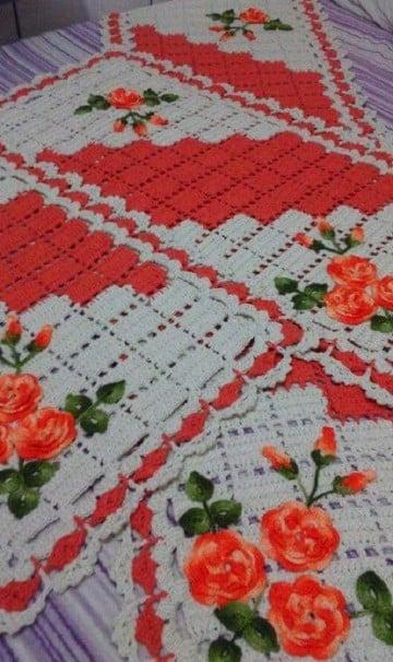 paños tejidos a crochet cuadrados