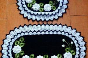 Imagenes con modelos faciles de paños tejidos a crochet