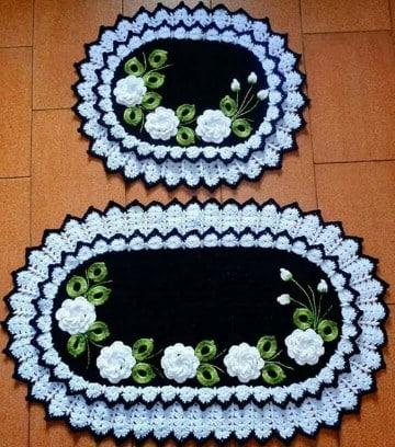paños tejidos a crochet ovalados