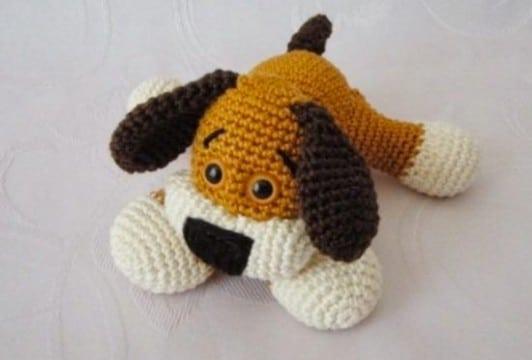 perritos tejidos a crochet gratis