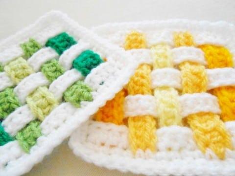 portavasos en crochet delicados