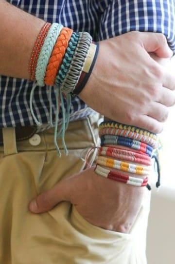 pulseras tejidas a mano a crochet