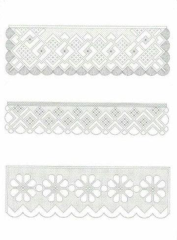 puntillas de crochet para toallas patrones