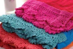 Puntillas de crochet para toallas paso a paso y patrones