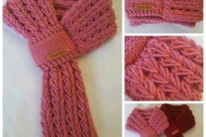 Puntos para tejer bufandas y patrones de diseños modernos