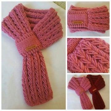 bufandas tejidas modernas paso a paso